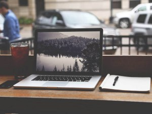 Free Macbook Mockup with Notebook