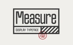 Measure Free Typeface