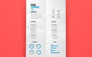 Minimal Resume Template (Illustrator)