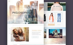 Philosophy : Fashion Ecommerce PSD Template
