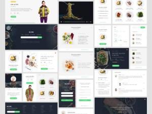 Rcipe : Food UI kit (Sketch)