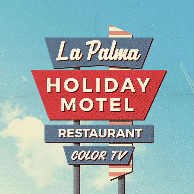 Free Retro Motel Sign Mockups - Free Download