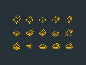 RNS Free Weather Icon Set