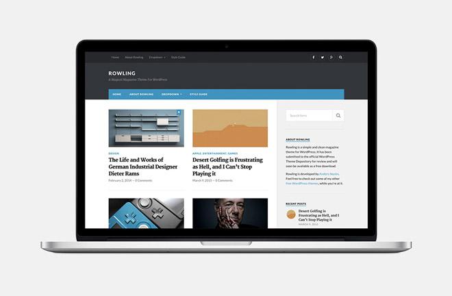 Rowling : Simple Magazine WordPress Theme
