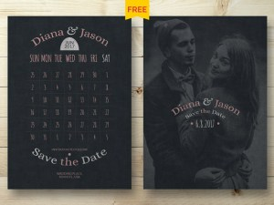 Free Save The Date Card Template (PSD)