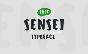 Sensei : Free Brush Font