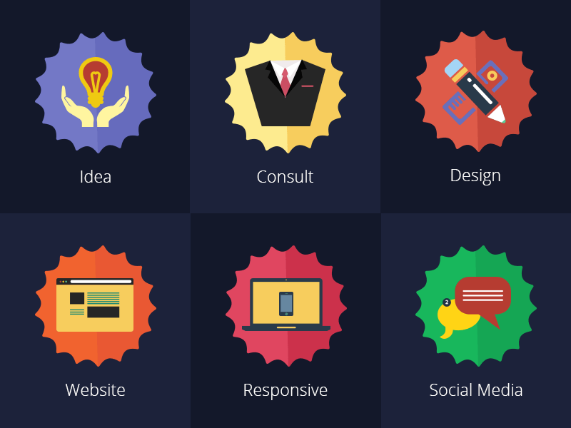 Free Colourful Flat Services Icons
