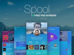 Spool App UI Kit PSD