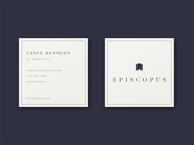 Free Square Business Card Mockup