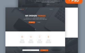 Tanatos : Free PSD Template for Startups
