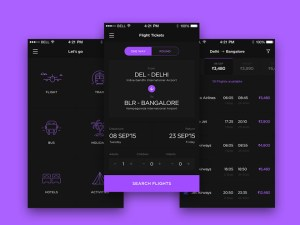 Free Travel App UI Kit PSD