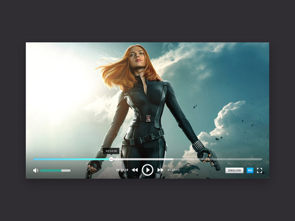 PlayerON : Video Player UI PSD