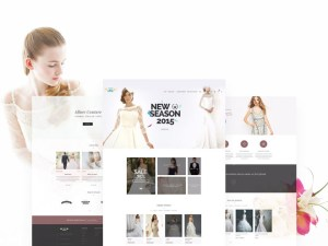 Wedding eCommerce PSD Web Template