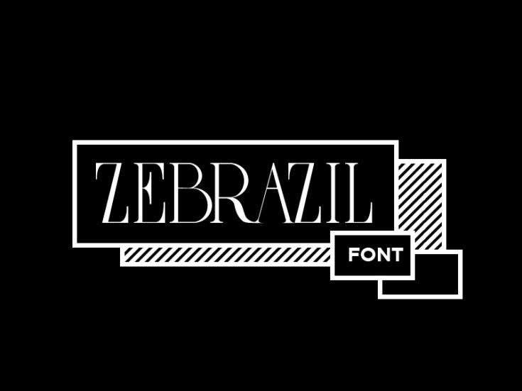 Zebrazil : Sans Serif Headline Font