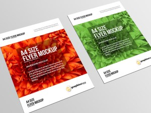 Free A4 Paper Size Mockup PSD