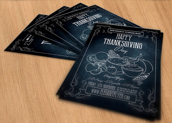 Free Thanksgiving Flyer Template Psd Free Download Freebiesjedi