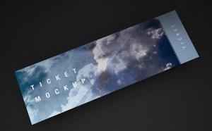 Free Ticket Mockup PSD