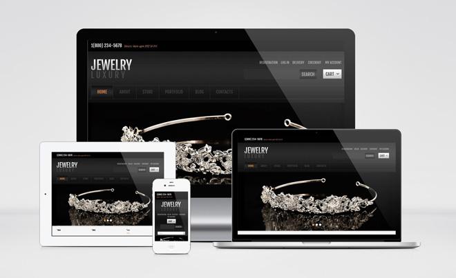 Jewelry : Free Jigoshop Wordpress Theme