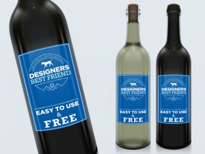 Free Clean Wine Label Bottle Mockup