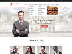 Free law firm PSD template