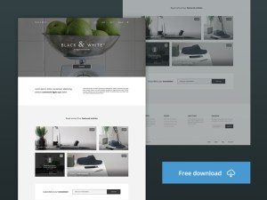 Black and White : Free Portfolio PSD Template