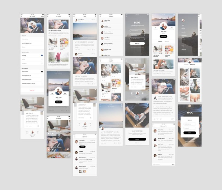 Bloc - Free Blog UI Kit