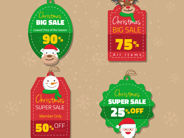 Free Christmas Sale Labels
