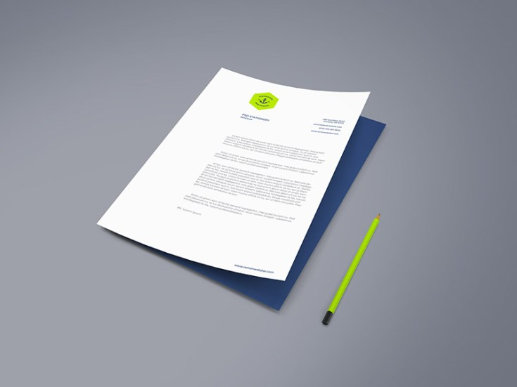 Free High Resolution A4 Paper Mockup