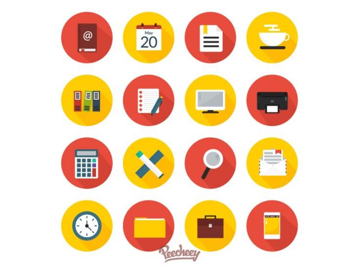 Free Office Work Icon Set