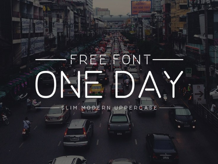 One Day : Free Slim Modern Uppercase Font