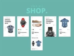 Shop : Free Mobile Ecommerce UI Kit