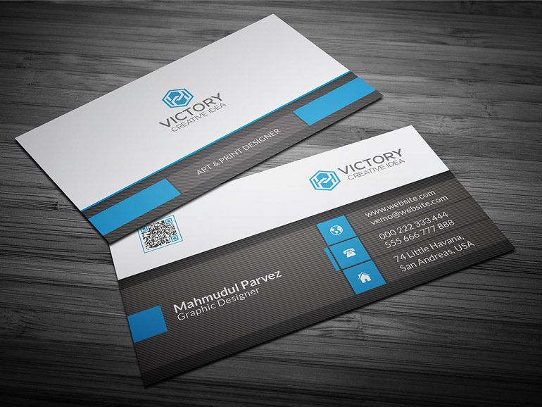 Victory : Free Corporate Business Card Template
