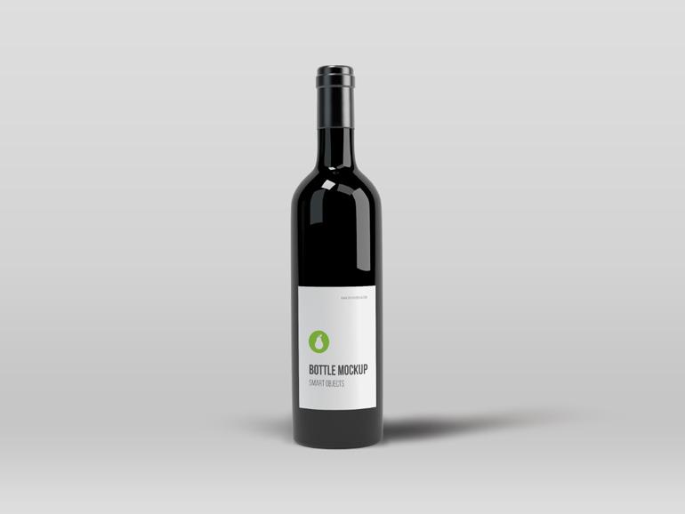 Free Black Bottle Mockup PSD