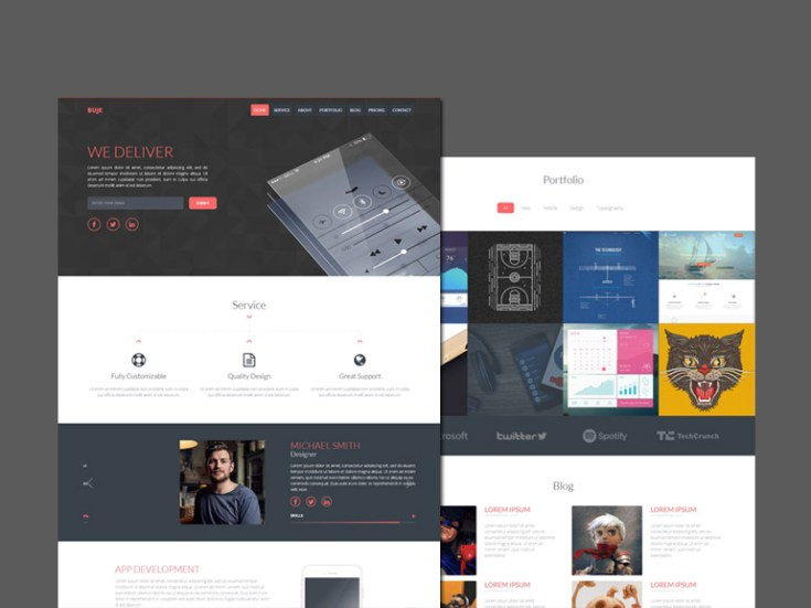 Buje – One Page HTML App Landing Page Template