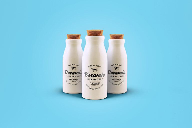 Ceramic Bottles Mockup PSD