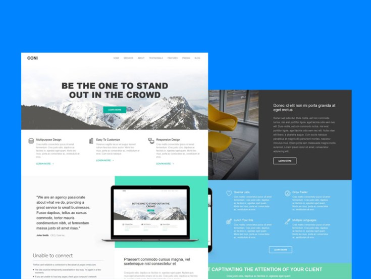 Coni : Free Wordpress Theme for Small Business