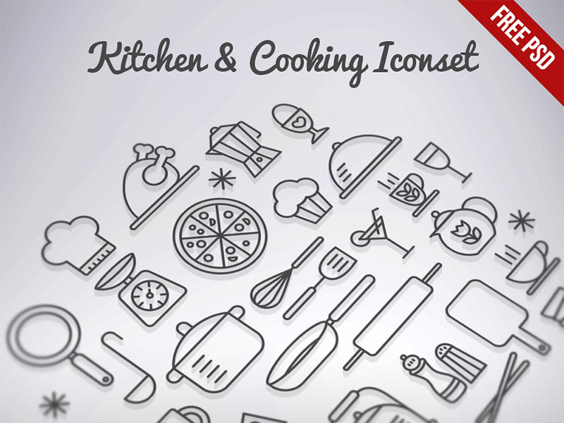 Free Cooking Icon Set (PSD)