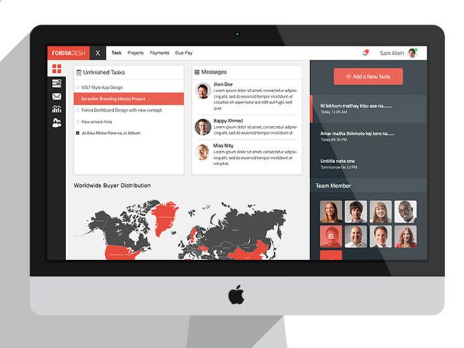 FokiraDesh: Free Dashboard UI PSD Template