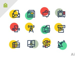 Free Communication Icon Set