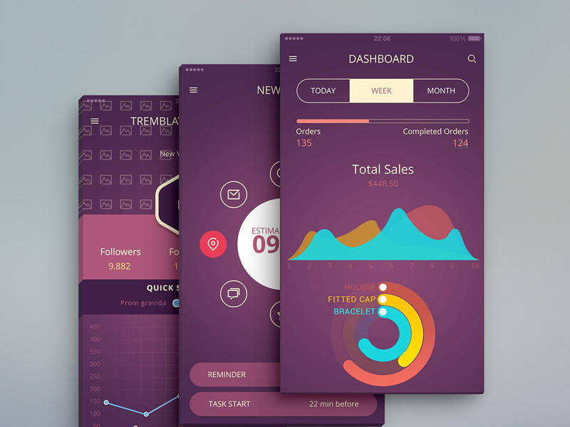 iOS App UI Design PSD Free Download