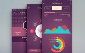 iOS App UI Design PSD