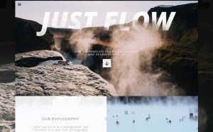 Just Flow : Free Portfolio PSD Template
