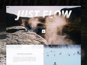 Just Flow : Free Portfolio PSD Template