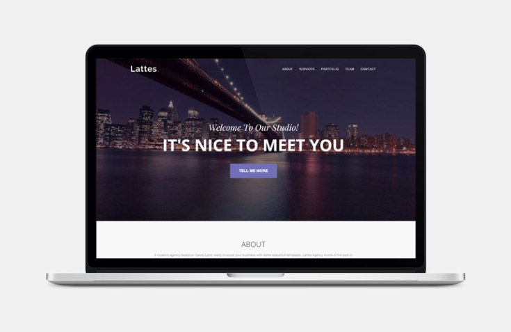 Lattes : One Page Bootstrap Template