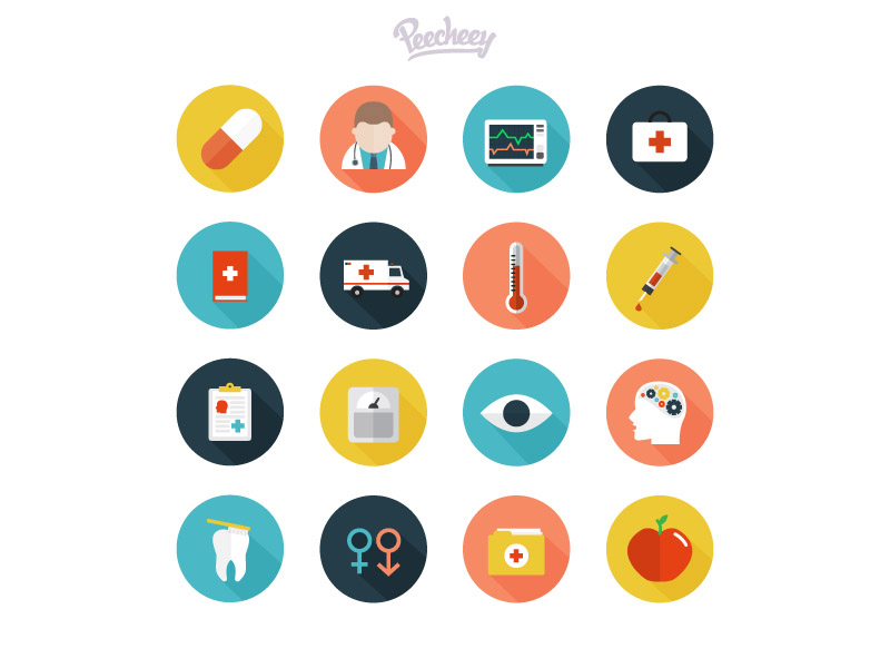 Free Vector Medical Icon Set