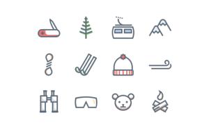 Free Mountain Trip Icons