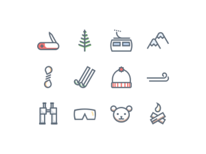 Free Mountain Trip Icons