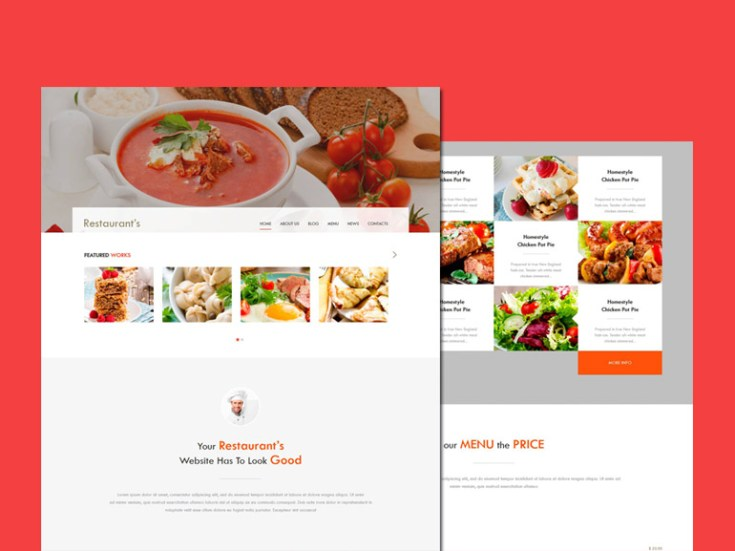 Free Responsive Restaurant HTML Template