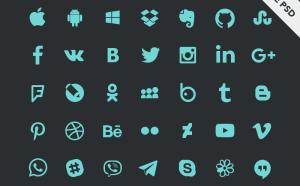 Free Social Icons PSD