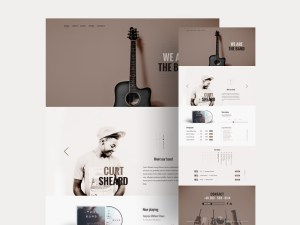 The Band : Free Music PSD Template